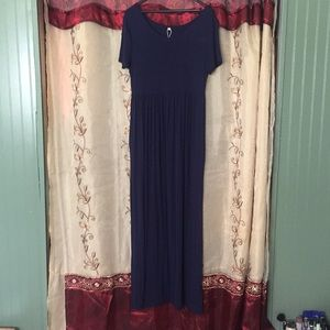 NWOT Navy Blue Maxi Dress with Pockets